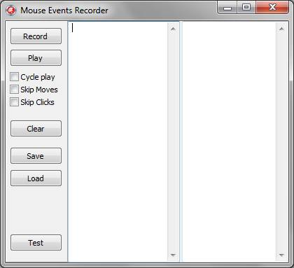 Mouse Clicker tool allows to record and play mouse events.